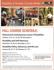 Disability Studies Course Fall 2014