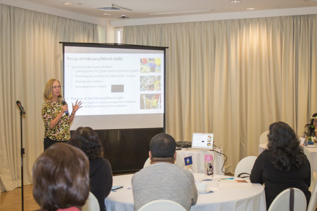 Bonnie Brandt, Guam CEDDERS Training Associate, provides a recap from the previous Guam LAUNCH Cultural Conversations Café held in February and March during the Guam Launch Cultural Conversations Café event held on July 14 at the Guam Hilton Resort & Spa.