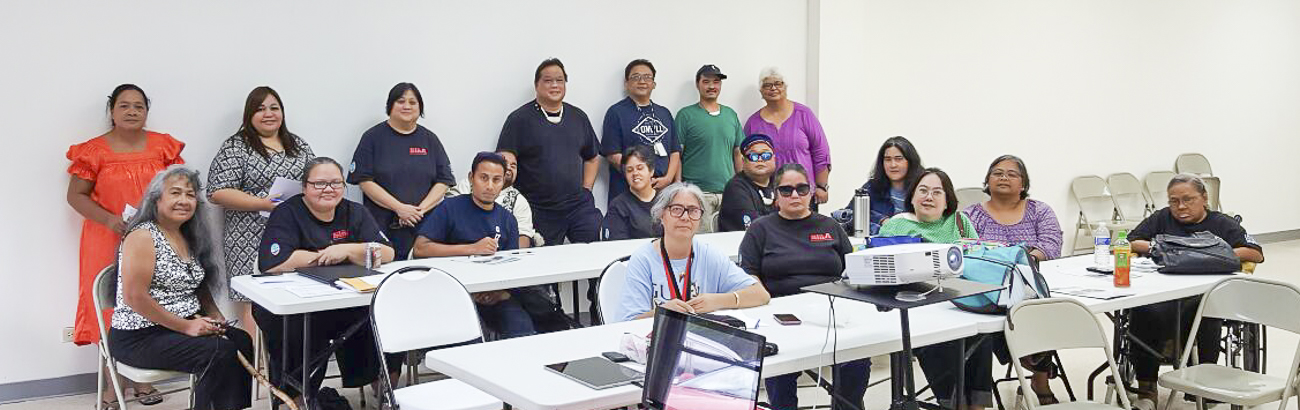 "Guam CEDDERS showed the latest draft of ""Ta Fan Acomprendi: Communicating with People with Disabilities to SiñA members on August 13 during their Self-Advocacy Refresher Workshop.  Feedback received was very positive. Next steps include finalizing edits and adding audio description."